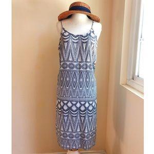 H&M summer tribal print midi dress